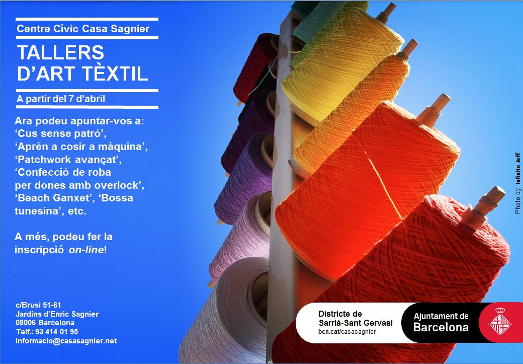 Cartell tallers tèxtil-Primavera 2014