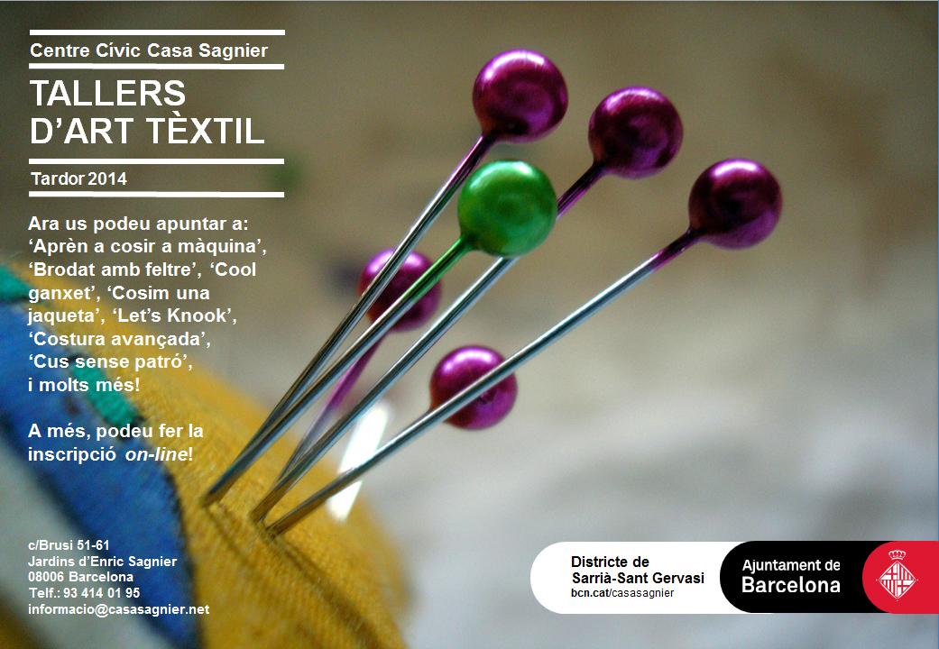 Tallers art tèxtil (blog) 2014